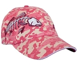 Pink Camo Fishing Caps