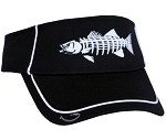 Black Striper Skeletal Fishing Visor