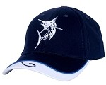 Navy Marlin Skeletal Fishing Cap