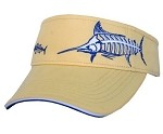 MARLIN VISOR - WASHED YELLOW WITH NAVY & WHITE