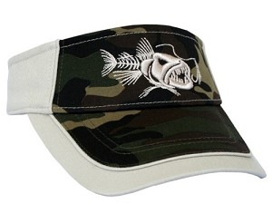 "CAMO 'BAD Fish""' Fishing VISOR."