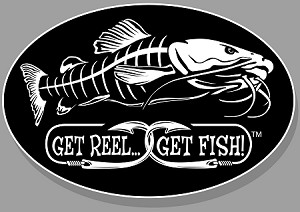 "Catfish Fishing Decal - 6"" x 9"" Oval"