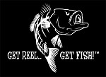 White Jumbo Bass Fishing Decal