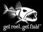 White Jumbo BAD FISH Fishing Decal