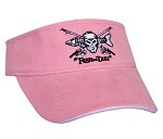 Pink 'Fish or Die' Fishing Visor