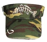 Redfish Camo Fishing Visor