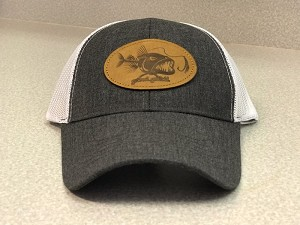 NEW GRAY CAP - BAD FISH PATCH & A MESH BACK