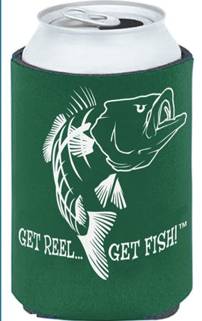Green Bass Fishing Koozie