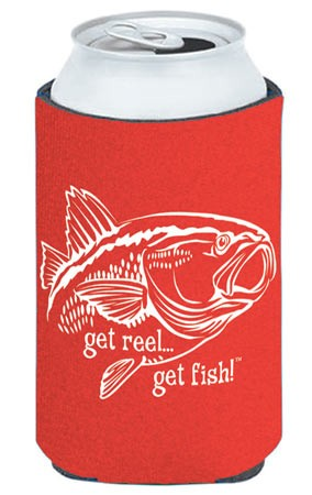 Red Redfish Fishing Koozie