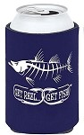 Navy Snook Fishing Koozie