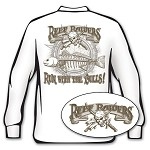 'Run with the Bulls' Redfish Long Sleeve Fishing T-Shirt