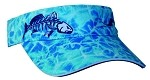 Redfish Skeletal Fishing Visor - Ocean Camo