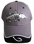 Gray Snook Skeletal Fishing Cap