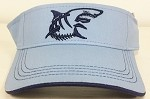Silver GREAT WHITE SHARK Fishing VISOR.