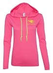 PINK 'GET REEL GET FISH' LIGHTWEIGHT HOODIE - LADIES CUT