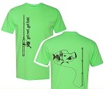 LIME 'ROD N REEL' SHORT SLEEVE T
