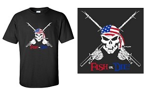FISH OR DIE USA! T-SHIRT