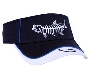 Navy Tarpon Skeletal Fishing Visor