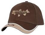 Brown Salmon Skeletal Fishing Cap