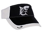 Charcoal & Black Shark Skeletal Fishing Visor