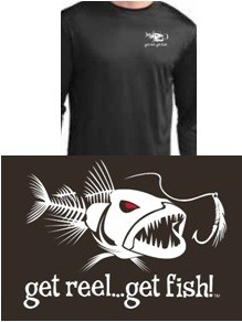BLACK 'BAD FISH' LS PERFORMANCE T