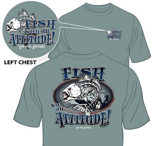 """FISH WITH ATTITUDE"" IN INDIGO BLUE"