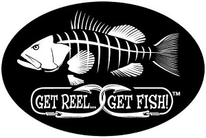 "Grouper Fishing Decal - 6"" x 9"" Oval"