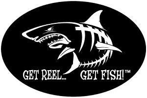 "Shark Fishing Decal - 6"" x 9"" Oval"