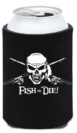 Black Fish or Die Koozie